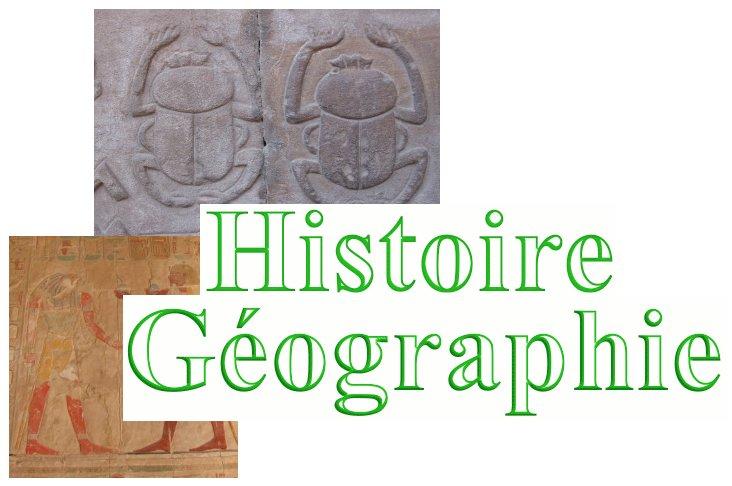 Bienvenue en histoire-géographie